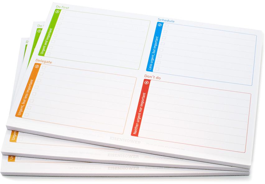 Eisenhower Matrix Notepads